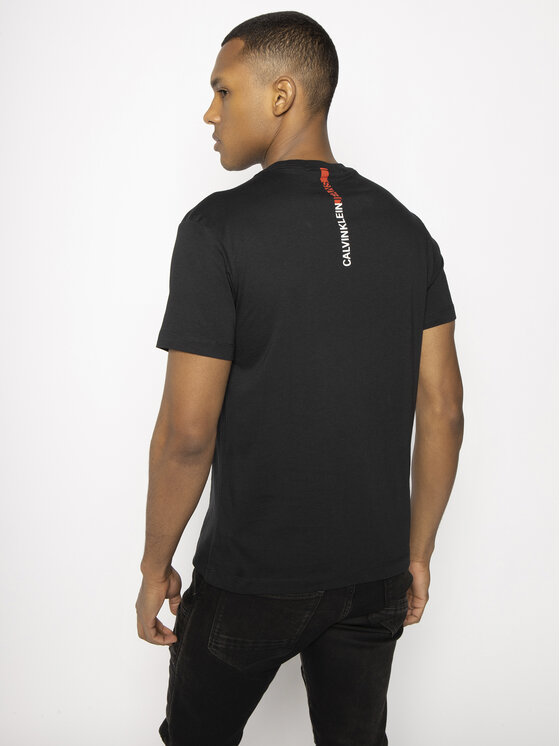 Calvin Klein Jeans Calvin Klein Jeans T-shirt Stripe Institutional Logo J30J314808 Nero Regular Fit