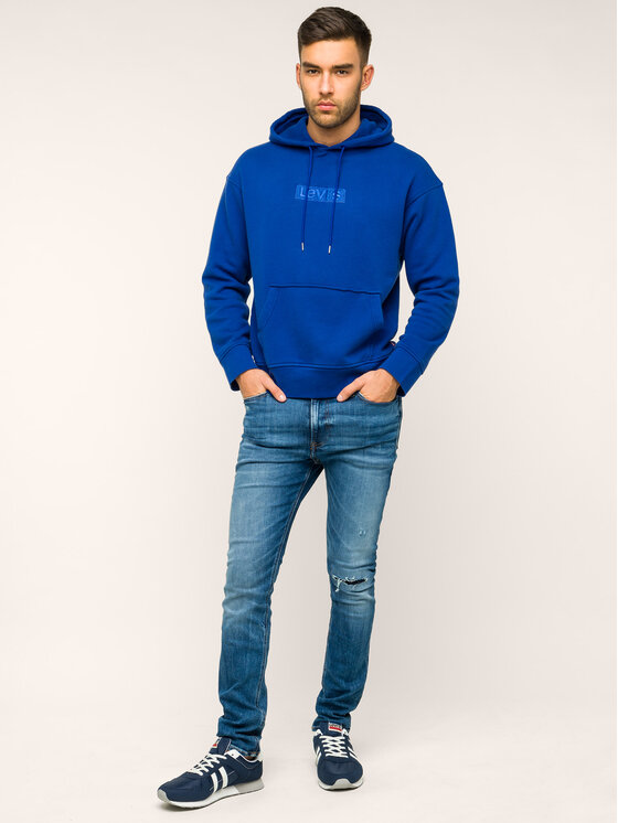 Levi's® Levi's Džemperis Relaxed Graphic 72632-0013 Tamsiai mėlyna Relaxed Fit
