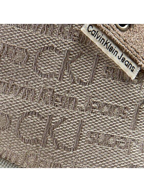 Calvin Klein Jeans Calvin Klein Jeans Półbuty Joy Ckj Jacquard Logo/Suede R1495 Beżowy