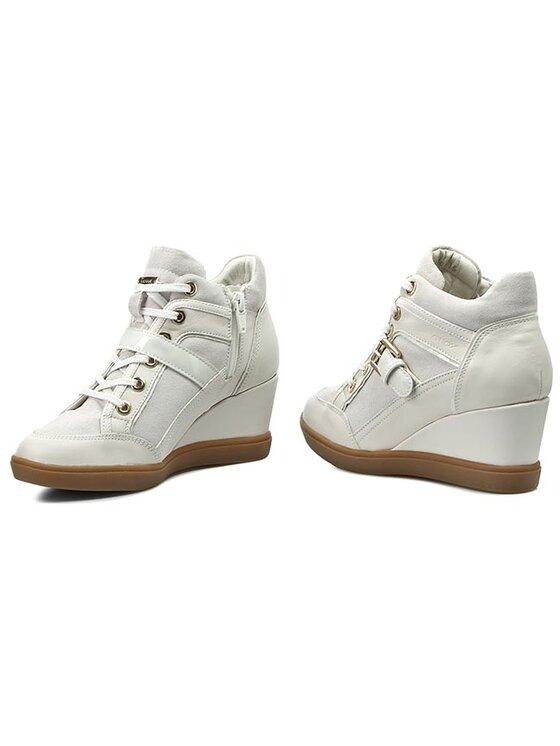 Geox Geox Sportcipő D Eleni C D6267C 02285 C1002 Fehér