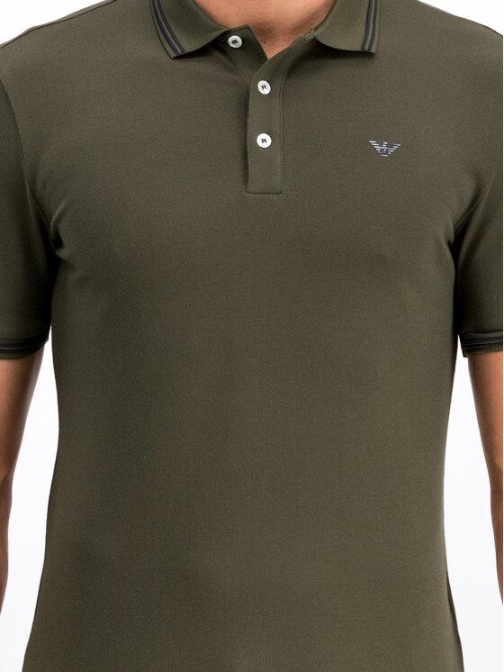 Emporio Armani Emporio Armani Polo marškinėliai 8N1F30 1JPTZ 0582 Žalia Regular Fit