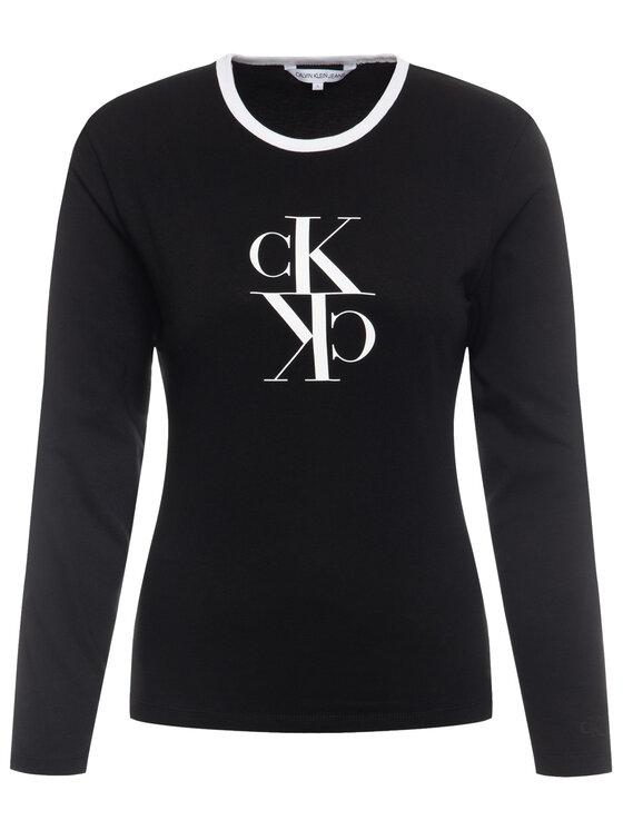 Calvin Klein Jeans Calvin Klein Jeans Bluzka J20J213067 Czarny Regular Fit