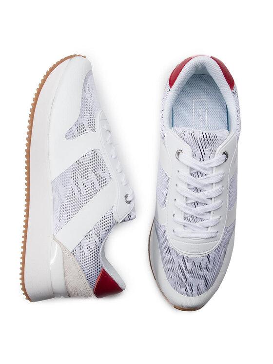 TOMMY HILFIGER TOMMY HILFIGER Αθλητικά Tommy Jacquard City Sneaker FW0FW04026 Λευκό