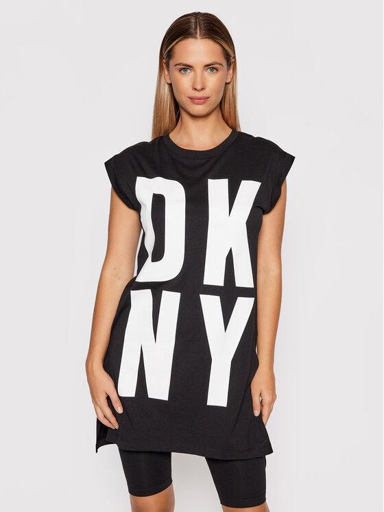 DKNY DKNY Tunika P1RHRB2M Crna Regular Fit