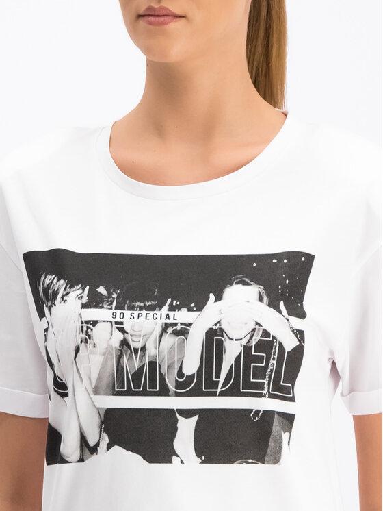 Silvian Heach Silvian Heach T-shirt Kader CVP19249TS Blanc Regular Fit