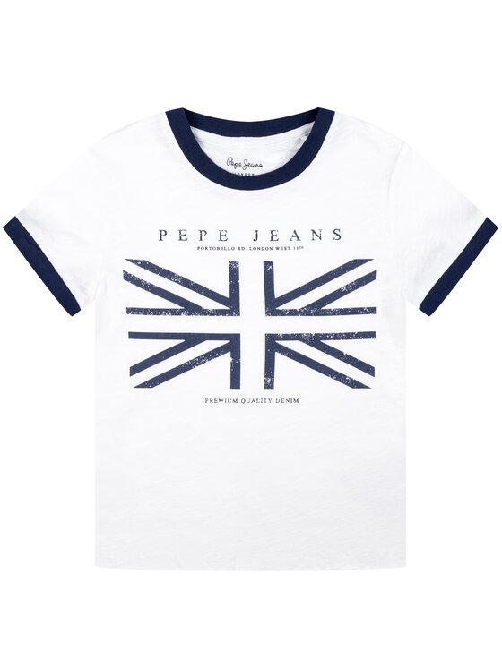 Pepe Jeans Pepe Jeans T-Shirt PG502203 Biały Regular Fit