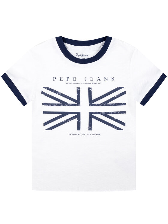 Pepe Jeans Pepe Jeans Тишърт PG502203 Бял Regular Fit
