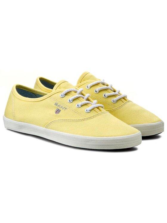 Gant Gant Tenisówki New Haven 10538569 Żółty