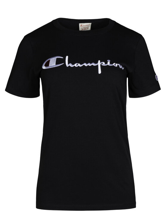 Champion Champion Tričko 111237 Čierna Regular Fit