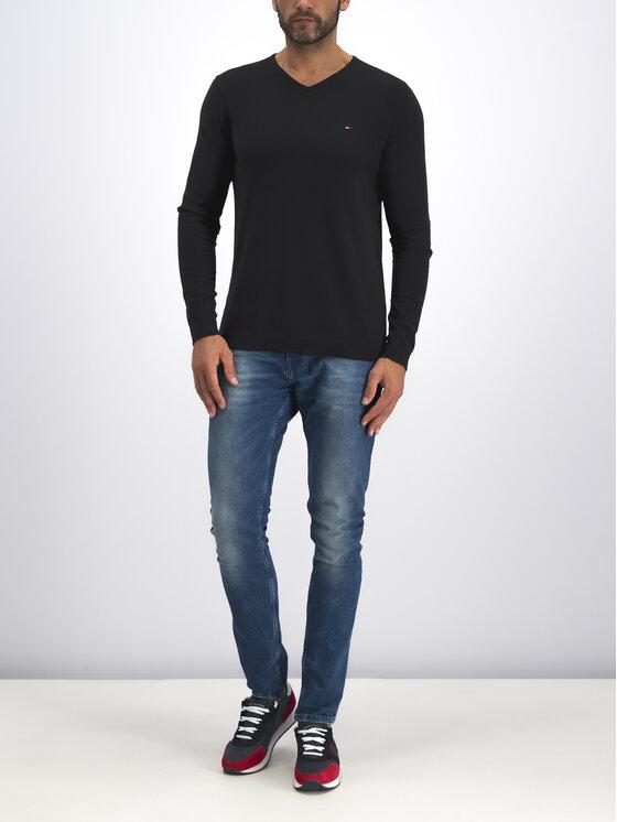 Tommy Jeans Tommy Jeans Svetr DM0DM04402 Černá Regular Fit