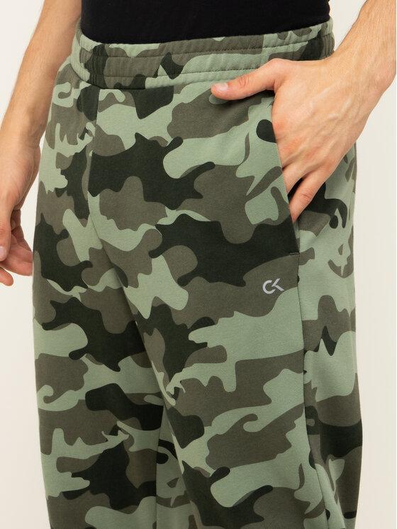 Calvin Klein Performance Calvin Klein Performance Teplákové kalhoty Knit Pants 00GMH9P683 Zelená Regular Fit