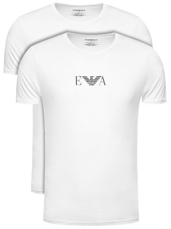 Emporio Armani Underwear Emporio Armani Underwear 2-dílná sada T-shirts 11267 CC715 04710 Bílá Slim Fit