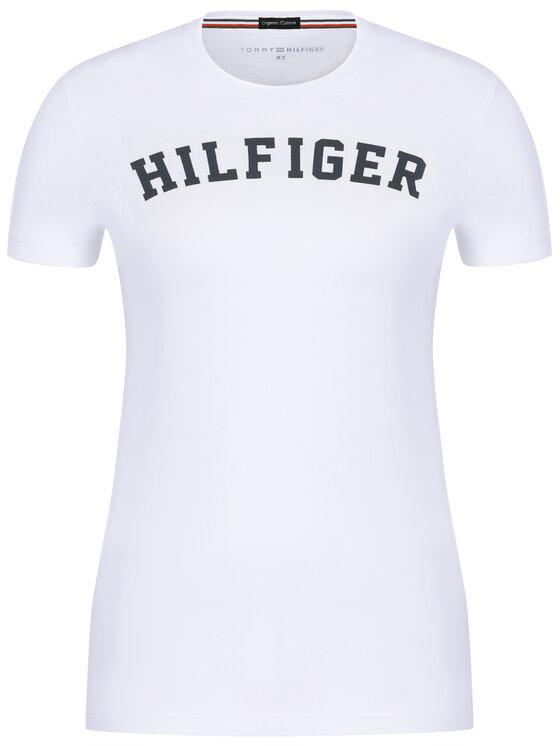 Tommy Hilfiger Tommy Hilfiger T-Shirt Print UW0UW00091 Bílá Regular Fit