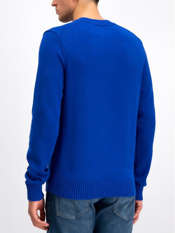 Calvin Klein Jeans Calvin Klein Jeans Sveter Instit J30J313480 Modrá Regular Fit
