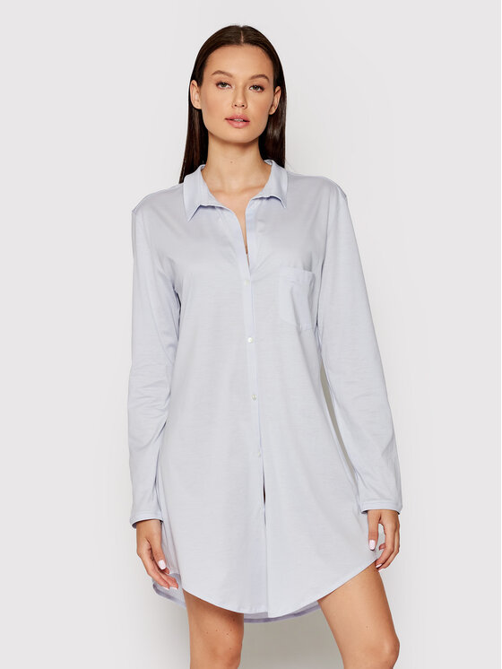 Hanro Naktiniai marškiniai Deluxe 7958 Mėlyna
