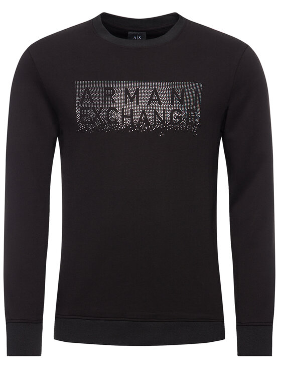 Armani Exchange Armani Exchange Pulóver 6GZMBQ ZJ1PZ 1200 Fekete Regular Fit