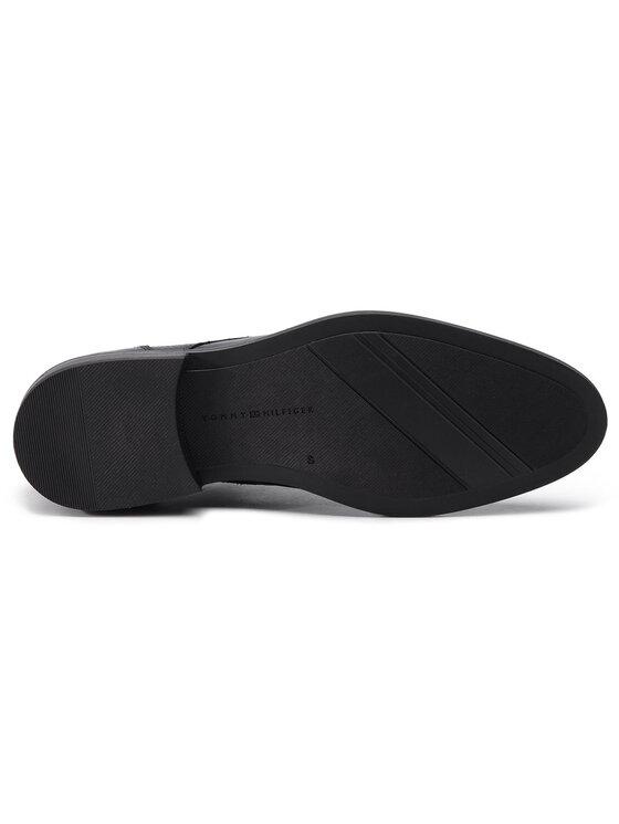 Tommy Hilfiger Tommy Hilfiger Pantofi Essential Leather Mix Shoe FM0FM02100 Negru
