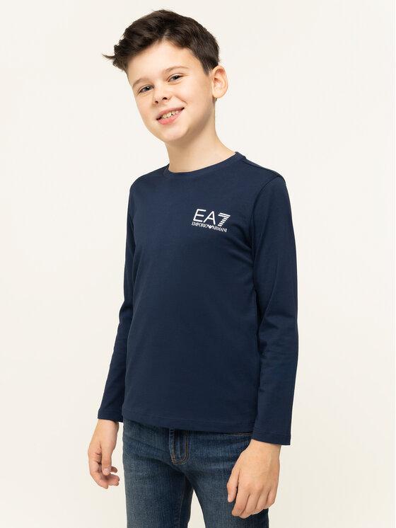 EA7 Emporio Armani EA7 Emporio Armani Μπλουζάκι 6GBT52 BJ02Z 1554 Σκούρο μπλε Regular Fit