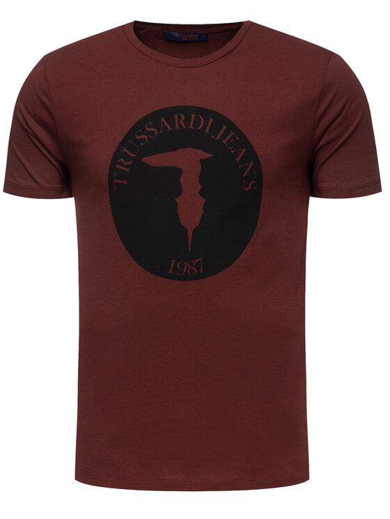Trussardi Trussardi T-Shirt 52T00271 Bordowy Regular Fit