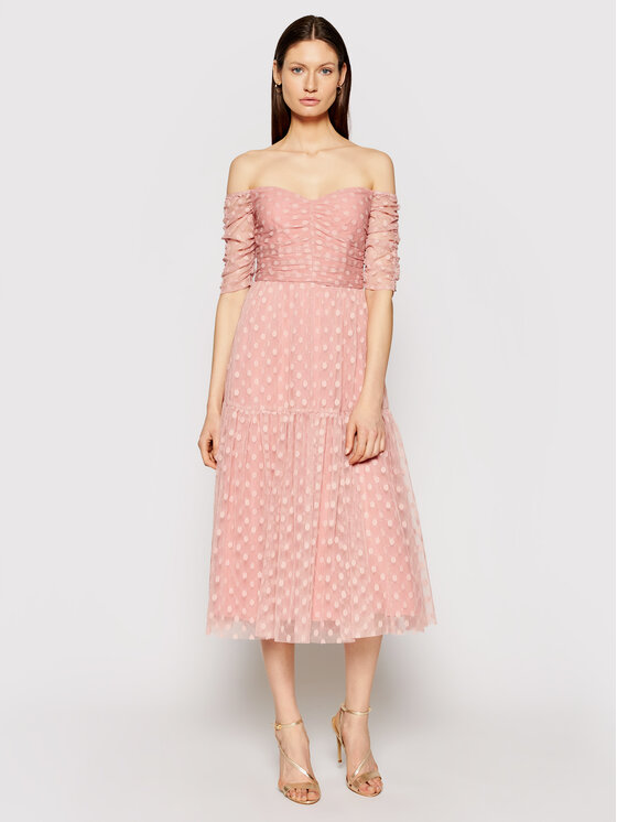 Nissa Kokteilinė suknelė RS12174 Rožinė Regular Fit