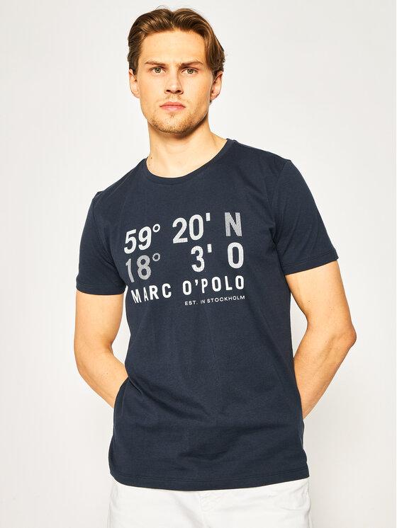 Marc O'Polo Marc O'Polo T-Shirt 023 2131 51128 Σκούρο μπλε Shaped Fit