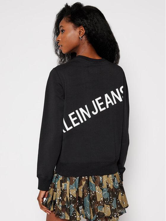 Calvin Klein Jeans Calvin Klein Jeans Mikina J20J214798 Černá Regular Fit