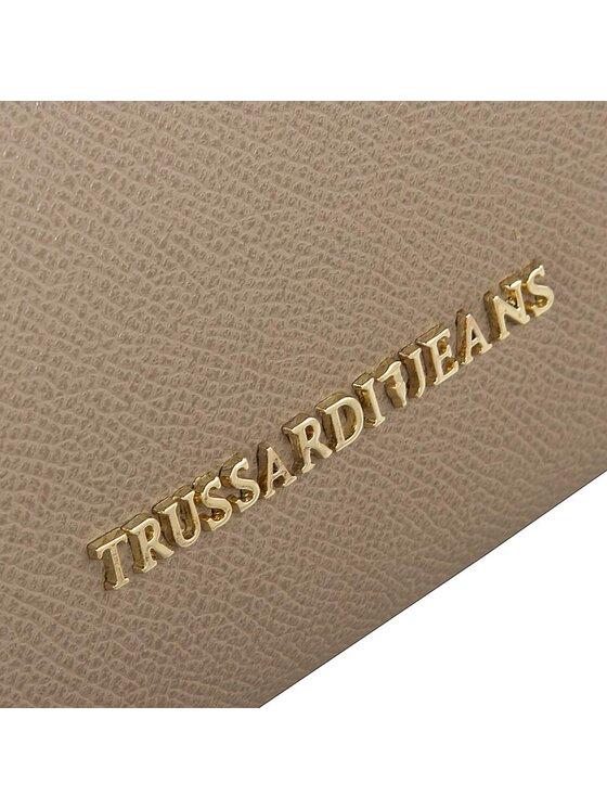 Trussardi Trussardi Jeans Duży Portfel Damski Montblanc Zip Around 75P241 Brązowy