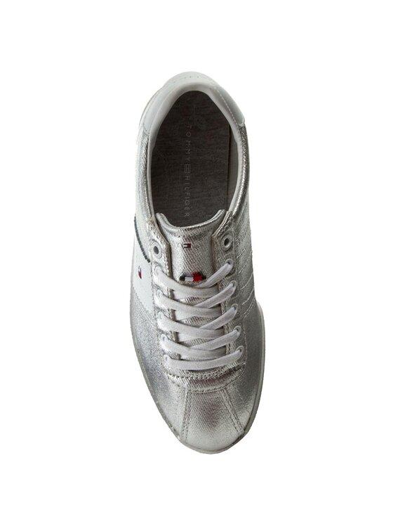 Tommy Hilfiger Tommy Hilfiger Sneakersy Lizzie 1D1 FW0FW00417 Stříbrná