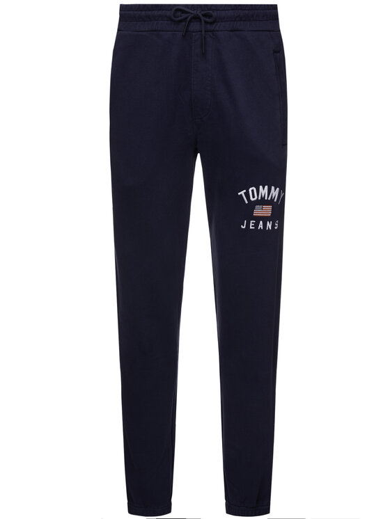 Tommy Jeans Tommy Jeans Долнище анцуг Logo Joggers DM0DM06971 Тъмносин Regular Fit