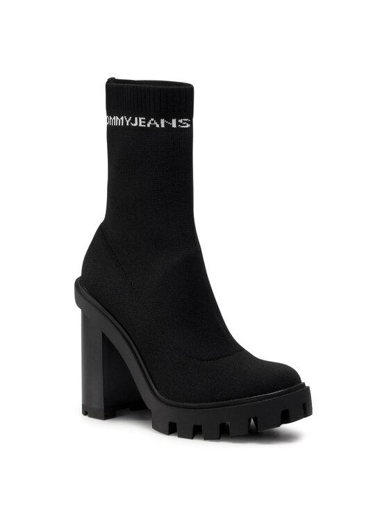 Tommy Jeans Aulinukai Cleated Heel Sock Boot EN0EN01081 Juoda