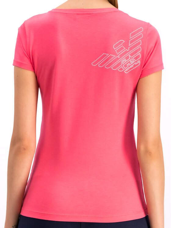EA7 Emporio Armani EA7 Emporio Armani Marškinėliai 3GTT01 TJ28Z 1456 Rožinė Regular Fit