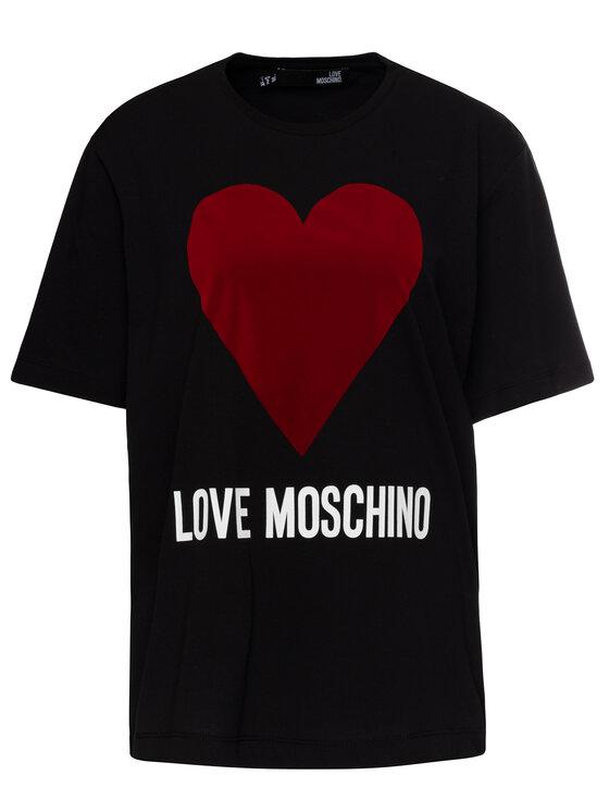 LOVE MOSCHINO LOVE MOSCHINO T-Shirt W4F8721M 3517 Schwarz Oversize