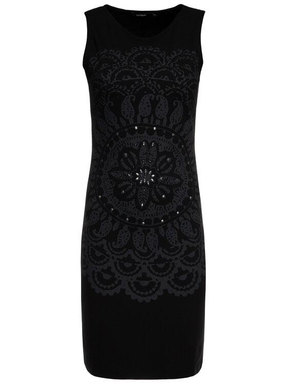 Desigual Desigual Sukienka koktajlowa 19WWVK28 Czarny Slim Fit