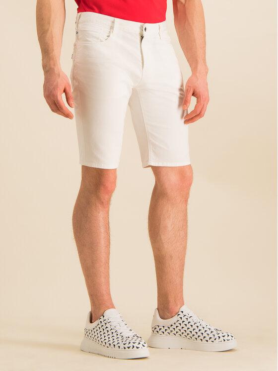 Emporio Armani Emporio Armani Pantaloncini di jeans 3H1PA6 1N4ZZ 0100 Bianco Regular Fit