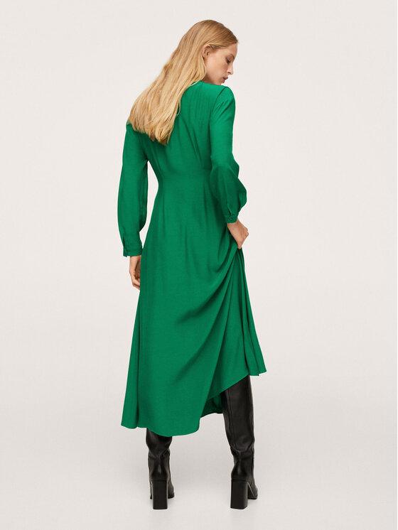 Mango Mango Sukienka koktajlowa Crosser 17043788 Zielony Regular Fit