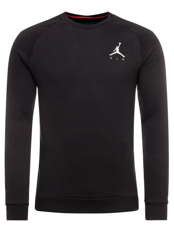 Nike Nike Bluză Jordan Jumpman Fleece Crew 940170 Negru Regular Fit