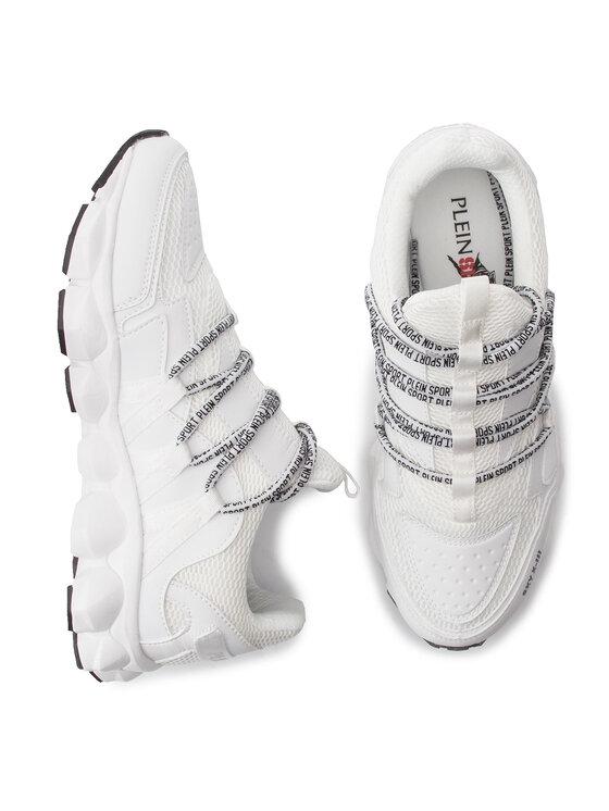 Plein Sport Plein Sport Sneakersy Runner Logos P19S MSC2108 STE003N Biały