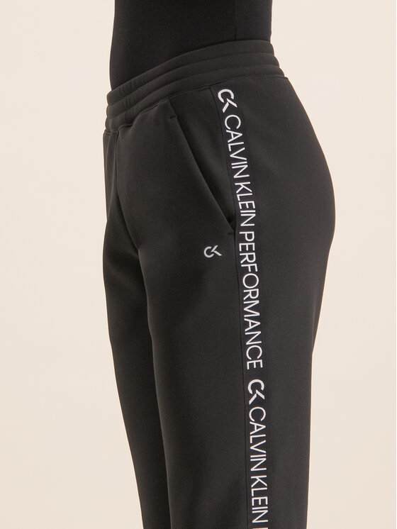 Calvin Klein Performance Calvin Klein Performance Παντελόνι φόρμας Logo Joggers 00GWH9P629 Μαύρο Regular Fit