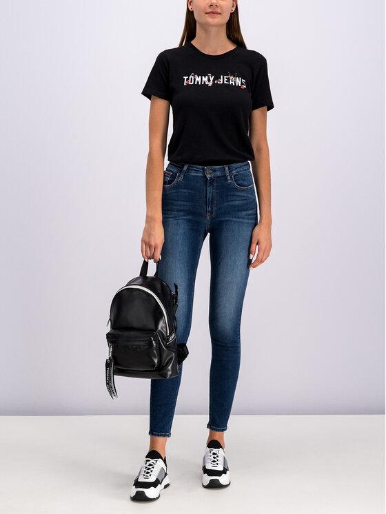 Tommy Jeans Tommy Jeans Tričko Donna DW0DW07170 Čierna Regular Fit