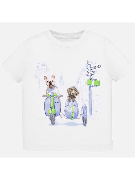 Mayoral Mayoral T-Shirt 1043 Biały Regular Fit