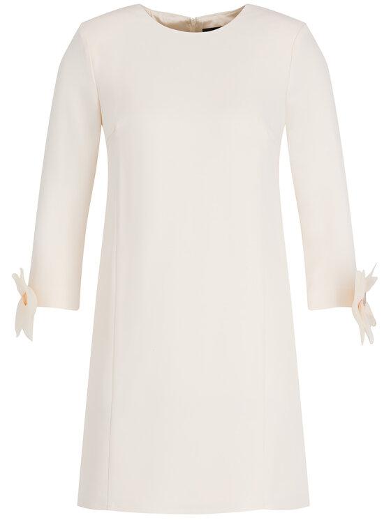 Elisabetta Franchi Elisabetta Franchi Коктейлна рокля AB-045-97E2-V349 Бял Regular Fit