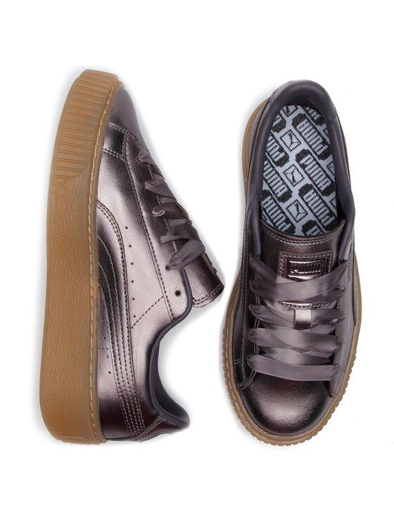 Puma Puma Sneakersy Basket Platform Luxe Wn's 366687 01 Szary