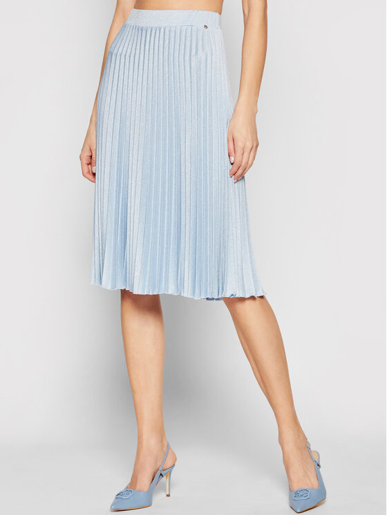 Nissa Plisuotas sijonas F12078 Mėlyna Regular Fit