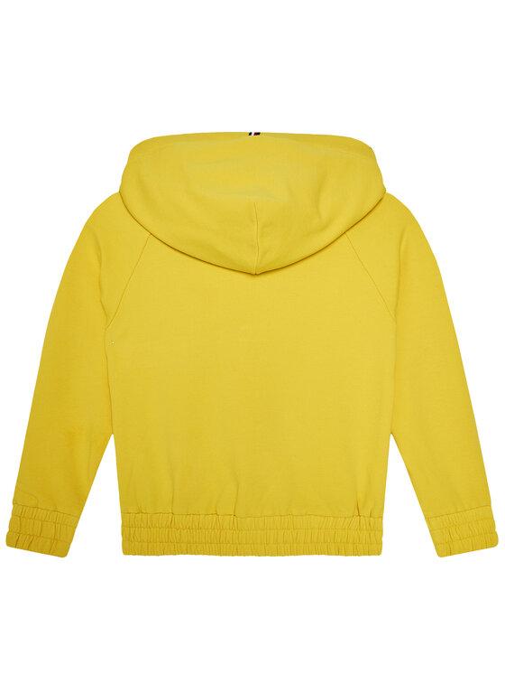 Tommy Hilfiger Tommy Hilfiger Bluza Essential Zip Trough KG0KG05491 M Żółty Regular Fit