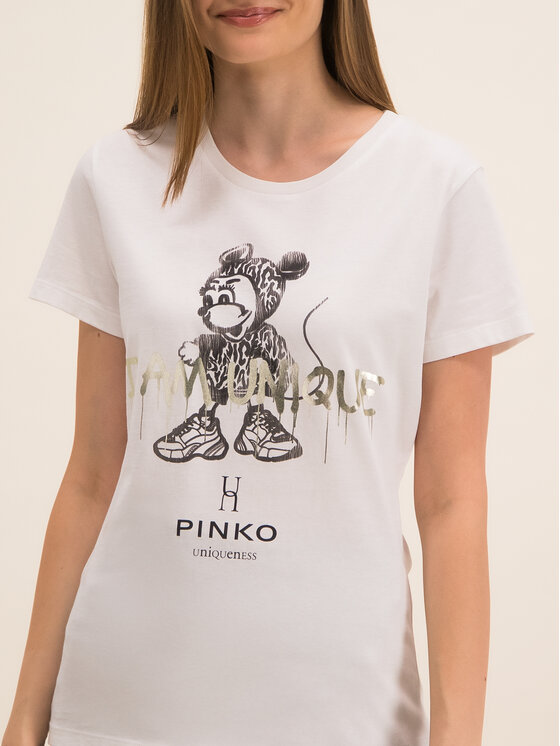 Pinko Pinko Тишърт UNIQUENESS Golosa PE 20 UNQS 1Q1043 Y6A5 Бял Regular Fit