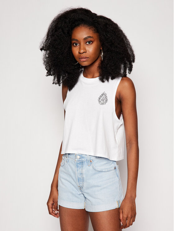 Volcom Marškinėliai Coral Morph B4512103 Balta Regular Fit