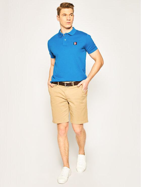 Tommy Hilfiger Tommy Hilfiger Polo Icon Mini Badage MW0MW13077 Bleu Regular Fit