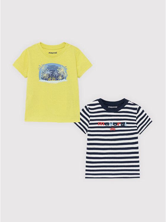 Mayoral 2 marškinėlių komplektas 1015 Spalvota Regular Fit