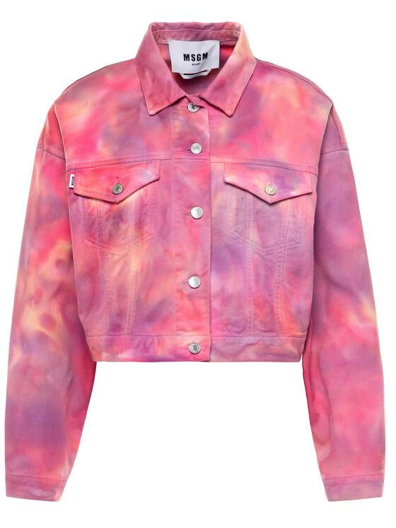 MSGM MSGM Giacca di jeans 2841MDH47T 207239 12 Rosa Regular Fit