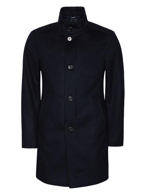 Joop! Joop! Vlněný kabát 17 JC-21Maron 30022586 Tmavomodrá Slim Fit
